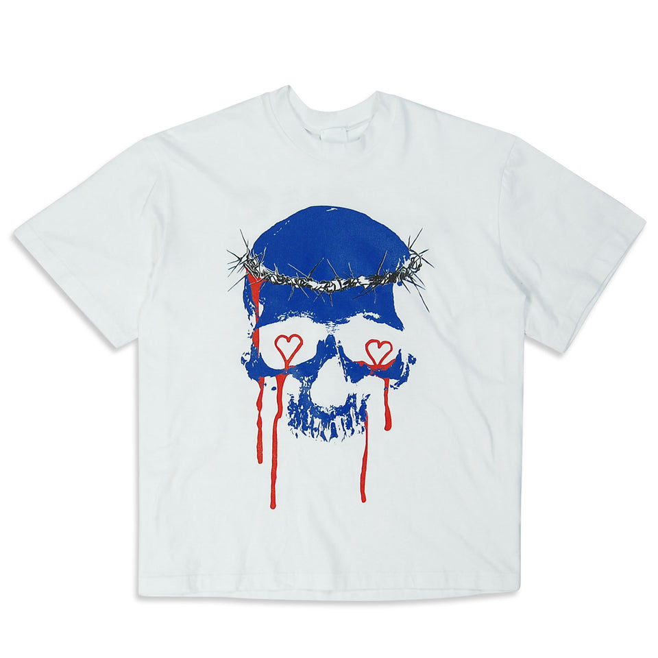 Skull Graffiti T-Shirt White