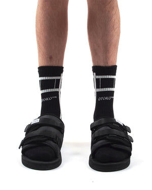 CHRYSALIS PANELLED SOCKS