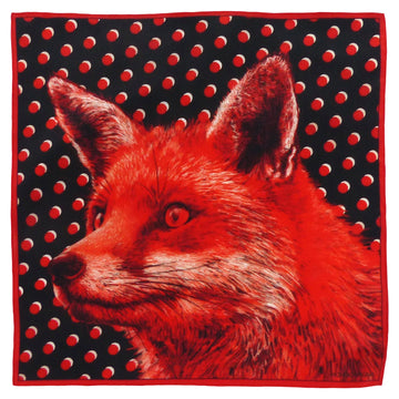 Silk Pocket Square (40cm) - Fox Red-Made in England-MondoMagna