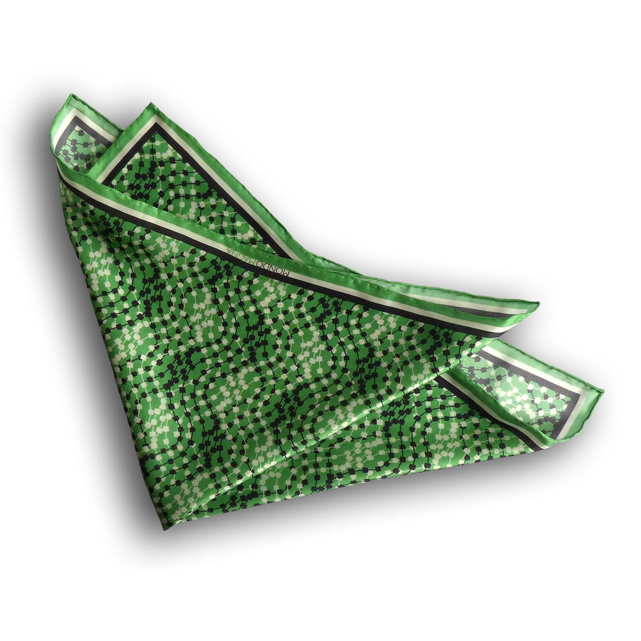 Silk Pocket Square (42cm) - Dave Green-MondoMagna