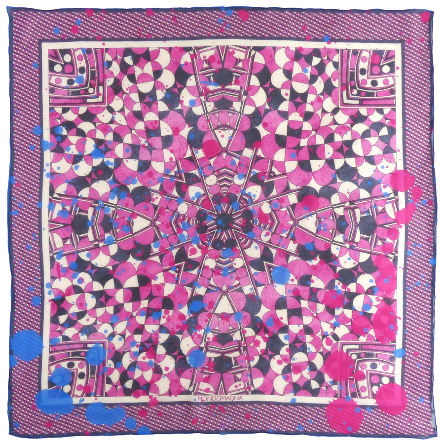 Square Silk Scarf (65cm) - Betty Pink-MondoMagna