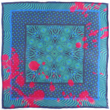 Square Silk Scarf (65cm) - Kenzie Green-Made in England-MondoMagna