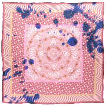 Square Silk Scarf (65cm) - Kenzie Pink-Made in England-MondoMagna