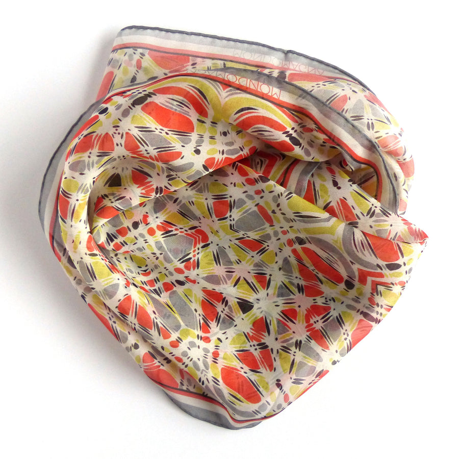 Square Silk Scarf (65cm) - Ruthie Orange-MondoMagna