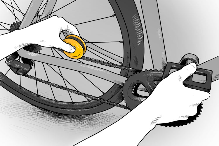 FLECTR LUBRI DISC - how to maintain your bike chain in seconds.