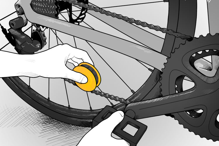 FLECTR LUBRI DISC - how to maintain your bike chain in in just three steps.