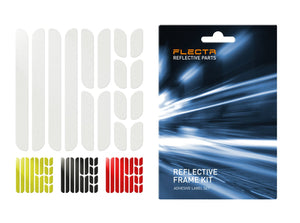 More labels, new colors – the new FLECTR reflective frame kit!