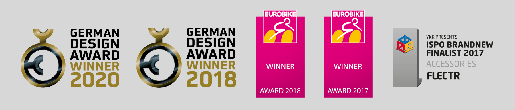 FLECTR BIKE - German Design Award Winner 2020 - German Design Award Winner 2018 - EUROBIKE AWARD WINNER 2018 - ISPO BRAND-NEW AWARD 2017 - EUROBIKE AWARD WINNER 2017