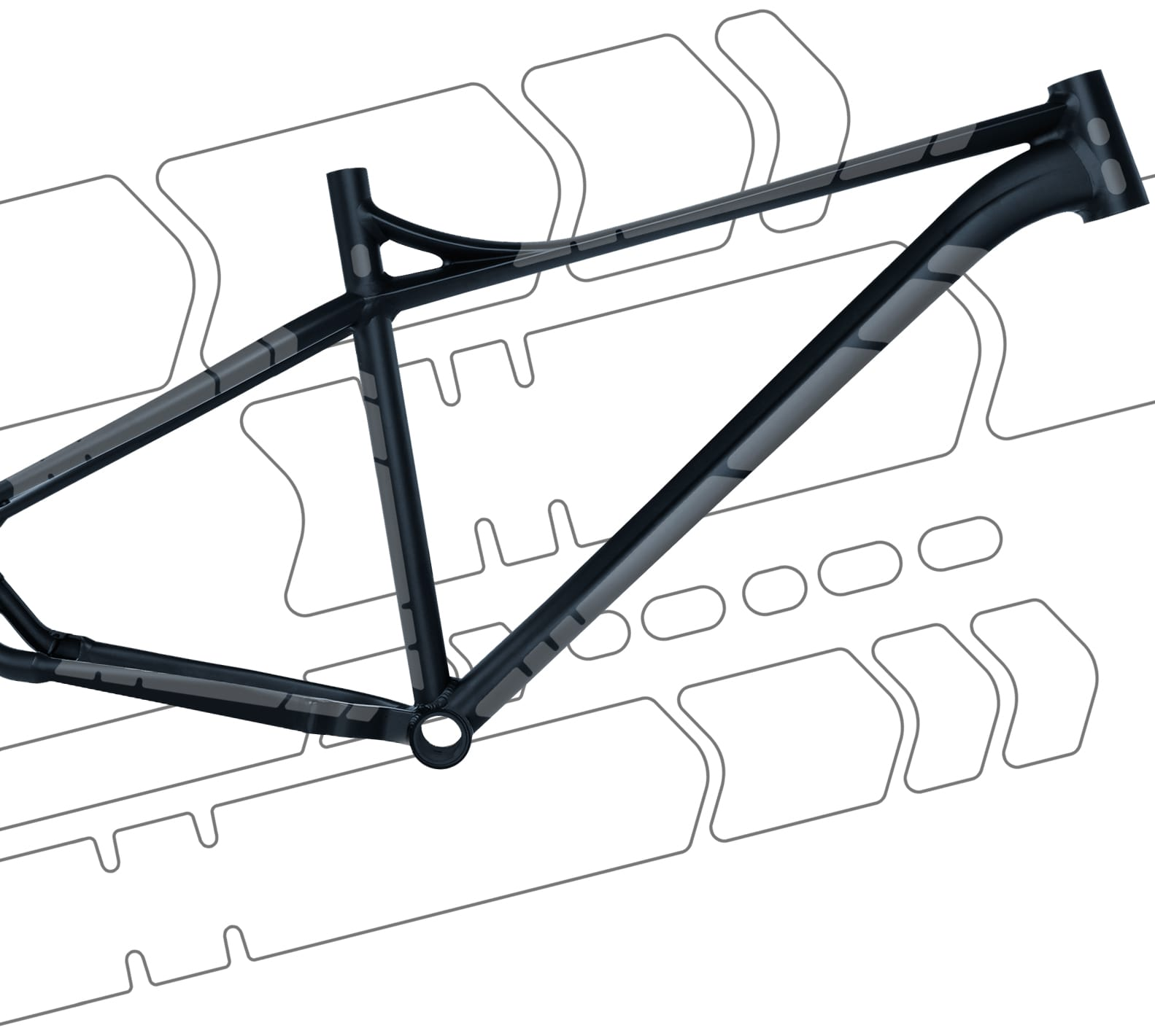 flectr gravel guard bike frame protection system