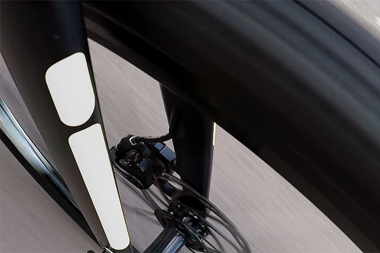 flectr reflective frame kit for cycles silver-white