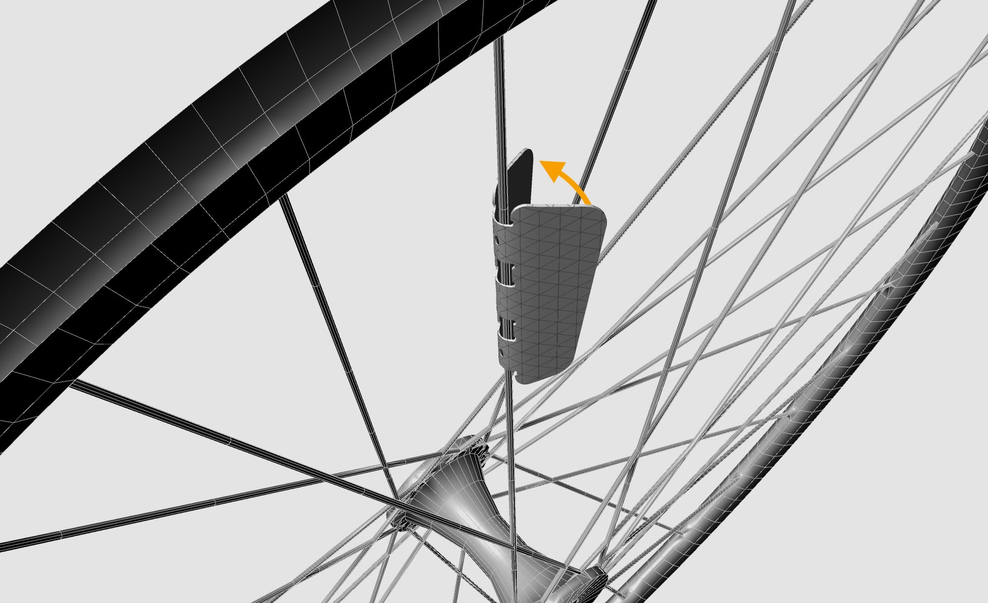 FLECTR ZERO spoke reflector wraps around the bicycle spoke