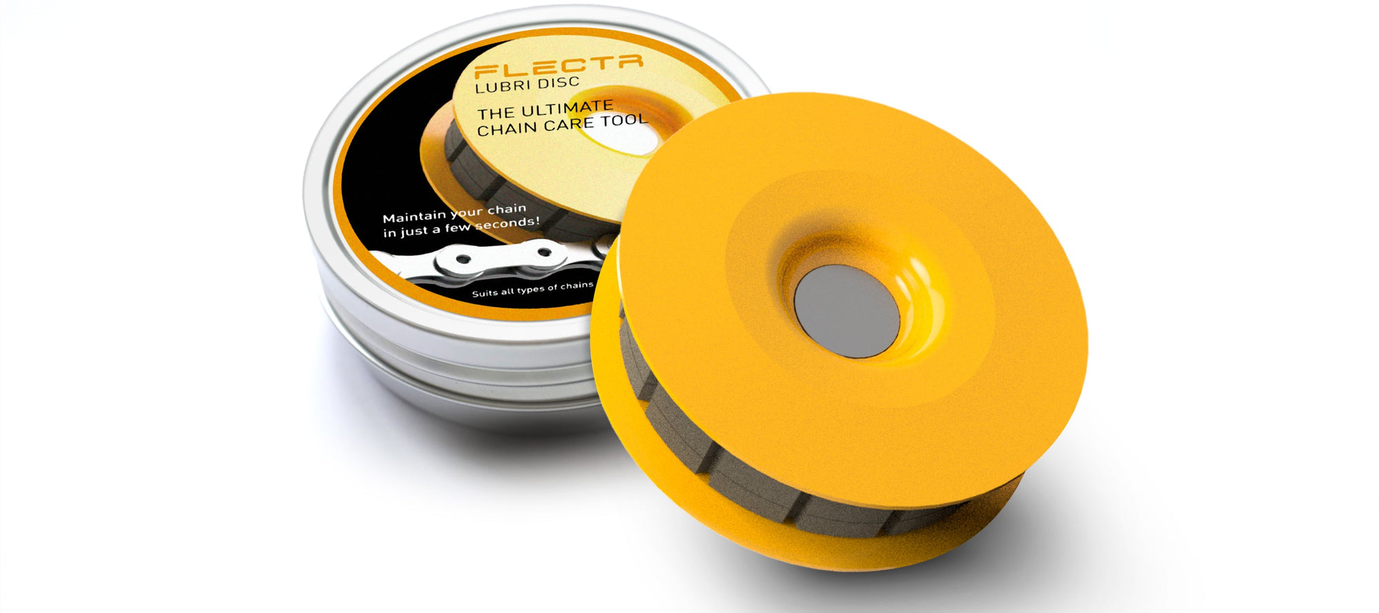 The FLECTR LUBRI DISC comes in a handy box.