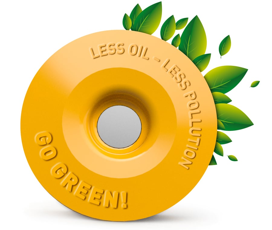 FLECTR LUBRI DISC saves up to 90% chain oil