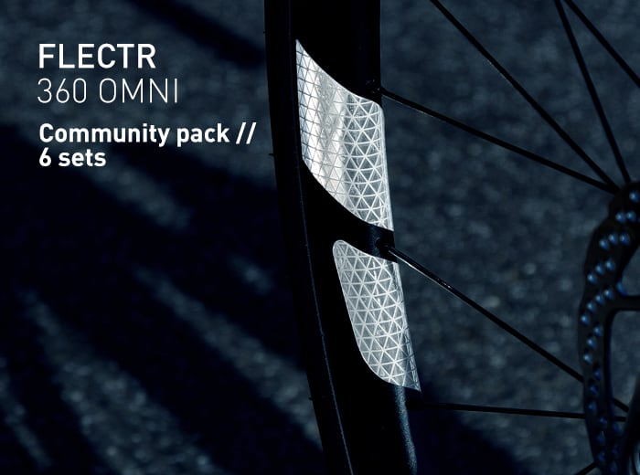 FLECTR 360 rim reflector community pack // 6 sets