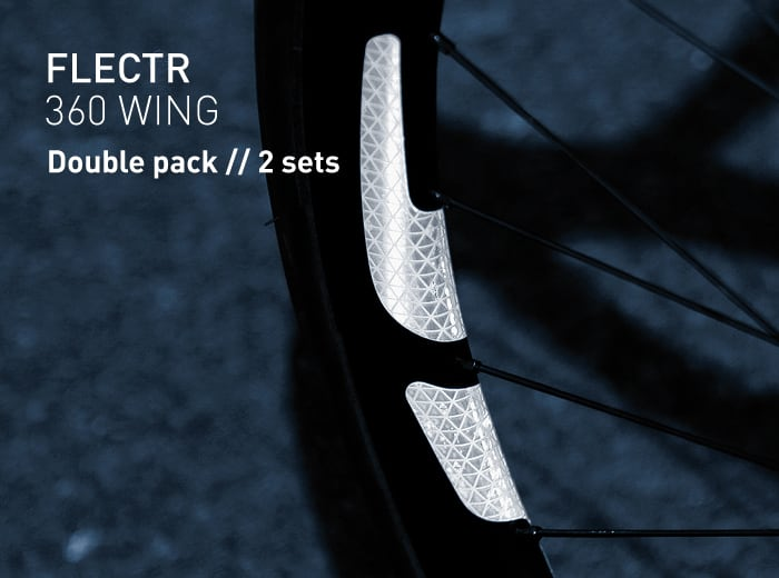 FLECTR 360 WING rim reflector double pack // 2 sets
