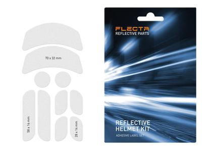 FLECTR reflective commuter helmet kit silver with dimension drawing