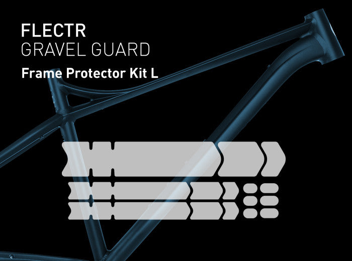 FLECTR GRAVEL GUARD Frame Protector Kit L