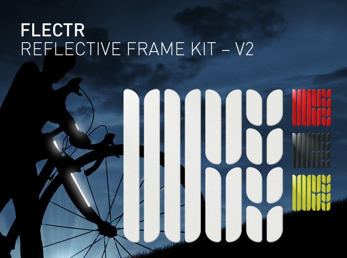 FLECTR REFLECTIVE FRAME KIT - bike frame reflectors - all variants