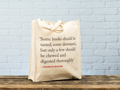 Renaissance Quote Tote Bag (Bacon)