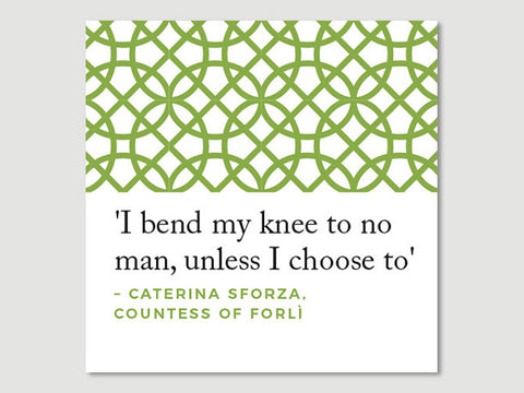 Women Quotes Greeting Card (Caterina Sforza)