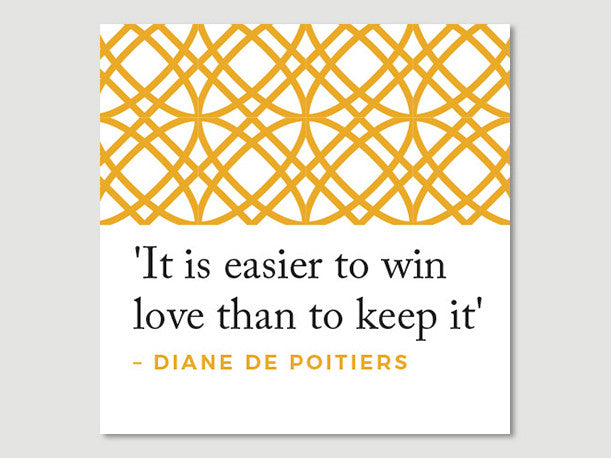 Women Quotes Greeting Card (Diane de Poitiers)