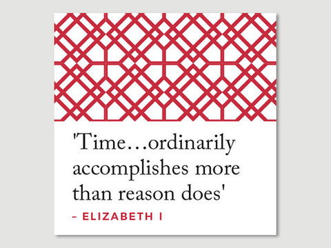 Elizabeth I Quotes Greeting Card (Time..)