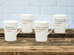 Elizabeth I Quote Mugs Set of 4