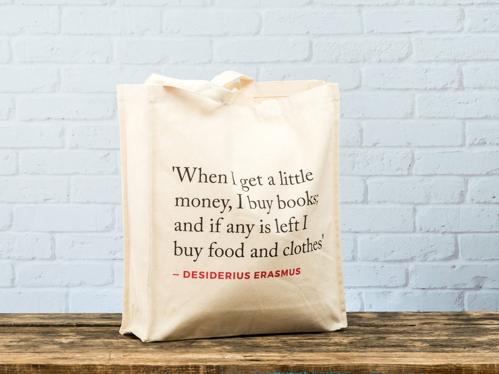 Renaissance Quote Tote Bag (Erasmus)