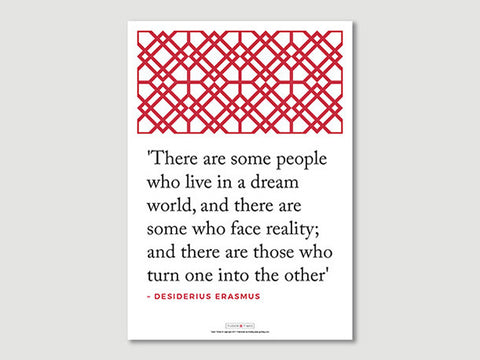 Quotes Posters (Erasmus - There are...)