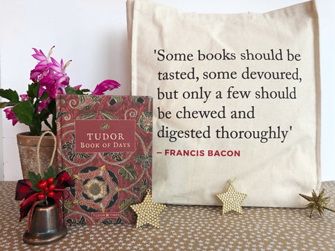 Tudor Book of Days and Bacon Quote Tote Bag