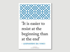 Quotes Posters (Leonardo da Vinci - It is easier..)