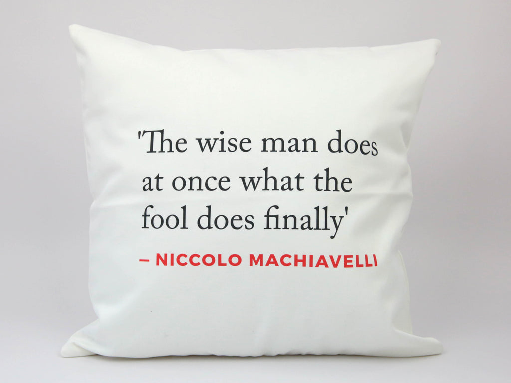 Renaissance Quote Cushion (Machiavelli)