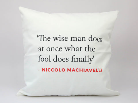 Renaissance Quote Cushion (Macchiavelli)