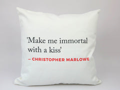 Renaissance Quote Cushion (Marlowe)