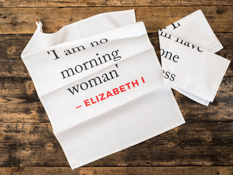 Elizabeth I Quote Tea Towel Pair