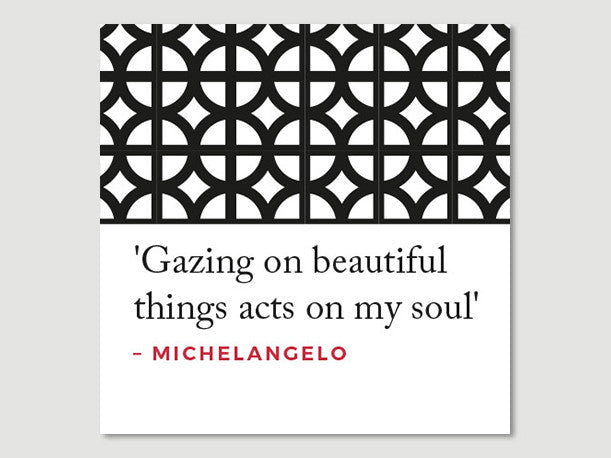 Quotes Greeting Card (Michelangelo)