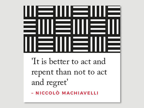 Quotes Greeting Card (Machiavelli - It is better...)