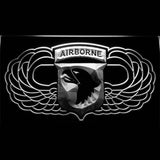 20x30cm 101st Airborne Jump Wings Army LED Neon Sign