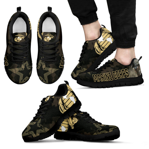 Marine Corps Sneakers - Black Laces