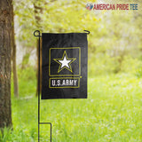 "12x18"" Embroidered U.S. Army Star Black Double Sided Garden Flag"