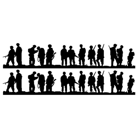 1 Pair BAND OF BROTHERS Car Sticker