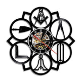 VA Masonic Logo Vinyl Record Clock With LED