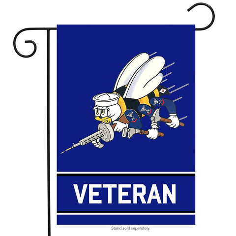 U.S NEW Navy Seabees Garden Flag