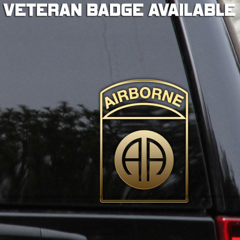 82nd Airborne Division - Veteran Car Sticker Window Decals 4.3*6inch/4.3*7.2inch