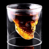 2017 Creative 3 Sizes Wine Glass Designer Skull Head Shot Glass Fun Doomed Transparent Glass