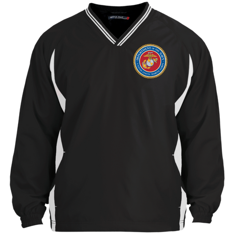 Marine Corps Embroidered Badge Vneck Windshirt