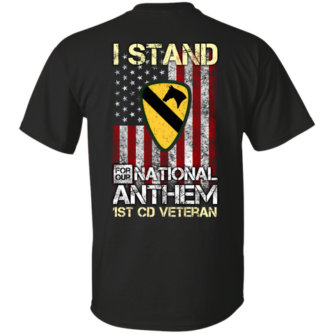 1st Cavalry Division - I stand for our national anthem