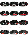 Firefighters Fireman Mom Sister Wife Dad Survival Paracord Charm Bracelets 25x18mm