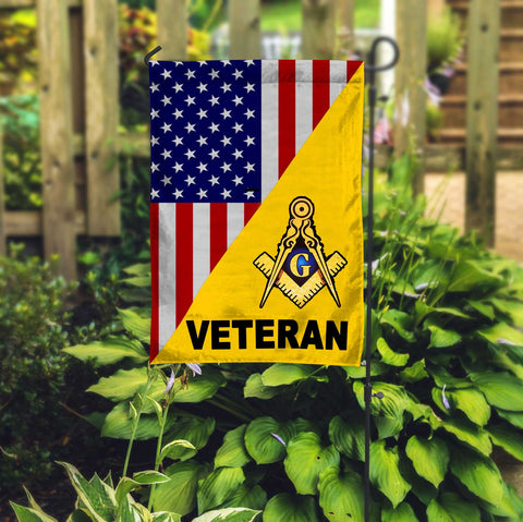 Freemason Veteran Yellow Garden Flag FMSFGF