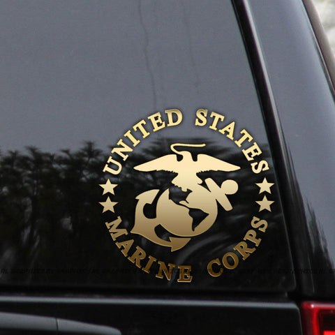 MARINE CORPS Decals Wall Glass Decals Car Stickers
